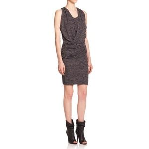 Burberry Brit Janey Gray Draped Front Mini Dress